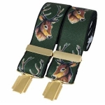 David Aster Green Stags Heads Braces