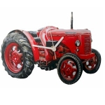 David Brown Red Tractor Wall Clock
