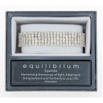 Silver Plated Diamante Five Row Stretch Bracelet