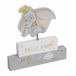 Disney Dumbo Hello Baby Block Plaque