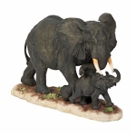 Elephant and Baby on a Base Ornament