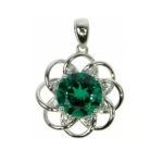 Emerald Circle Pendant