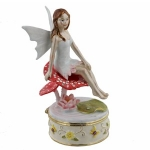 Fairy Sitting on Toadstool Trinket Box