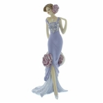 Faith Lilac Vintage Rose Standing Figurine