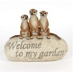 Family of Meerkats on Rock Ornament