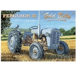 Ferguson 35 Gold Belly Tractor Metal Wall Sign 40 cm x 30 cm