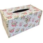 Flower Sparkle Wooden Tissue Box