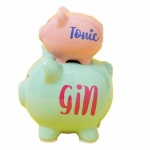 Gin and Tonic Double Stacked Piggy Bank