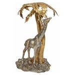 Giraffe and Palm Tree Figurine Ornament