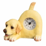 Golden Labrador Wagging Tail Mantle Clock