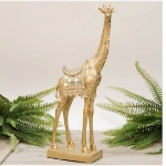 Golden Standing Giraffe Ornament