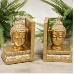Golden Thai Buddha Bookends