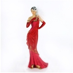 Lillian Red and Pink Charleston Figurine