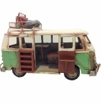 Green Campervan Metal Model with Open Door