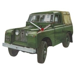 Green Series 2 Land Rover Wall Clock