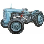 Grey Massey Ferguson Tractor Wall Clock