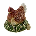 Hen and Chicks Trinket Box