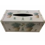 Herbes de Provence Wooden Tissue Box