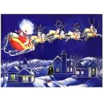 Here Comes Santa Rectangular Tile