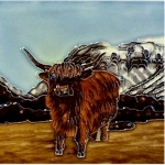 Highland Cow Square Tile