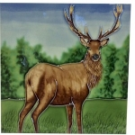 Highland Stag Square Tile