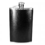 Hip Flask Black Leather