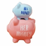 His and Her Money Double Stacked Piggy Bank