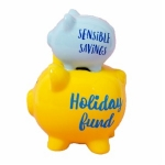 Holiday Fund Double Stacked Piggy Bank