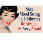 Humour Mood Swing Metal Wall Sign 40 cm x 30 cm