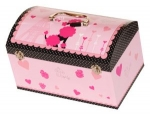 Poodle and Hearts French Collection Storage Box