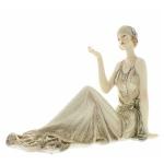 Justina Gold Glitter  Broadway Belle Figurine