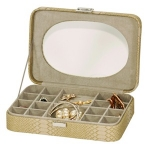 Kathy Green/Beige Snakeskin Jewellery Box