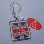 Keep Calm and Carry On Union Jack Keyring