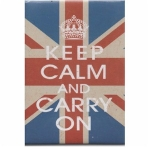 Keep Calm and Carry On Union Jack Fridge Magnet