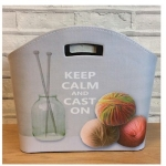 Keep Calm and Cast On Tidy Bag / Magazine Storage