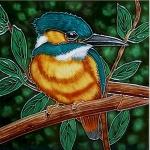 Kingfisher Square Tile Trivet