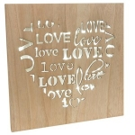 LED Shabby Chic Love Wooden Wall Plaque