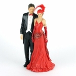 Lady and Gentleman Charles and Rose Charleston Figurine
