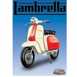Lambretta Metal Wall Sign 40 cm x 30 cm