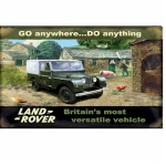 Land Rover on the Farm Metal Wall Sign 40 cm x 30 cm