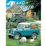 Land Rovers Metal Wall Sign 40 cm x 30 cm