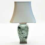 Large Pale Blue Butterfly Ceramic Table Lamp