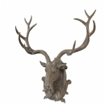 Large Wall Mounted Stag Head Trophy Sculpture