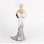 Margaret Silver and Grey Charleston Figurine
