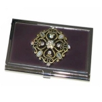 Purple Mauve Business Card Holder