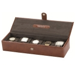 Men's Raffles Tan Brown Five Watch Box