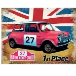 Mini Union Jack Monte-Carlo Rally Metal Wall Sign 40 cm x 30 cm