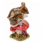 Mouse on Toadstool Trinket Box