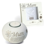 Mum Small Tealight and Photo Frame Gift Set