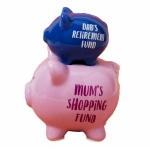 Mum's Shopping Double Stacked Piggy Bank